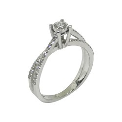 Gold Diamond Ring 0.46 CT. T.W. Model Number : 717
