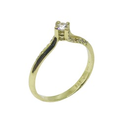 Gold Diamond Ring 0.22 CT. T.W. Model Number : 724