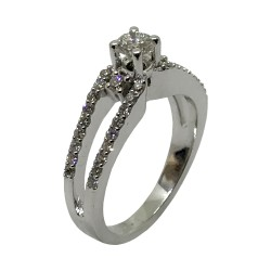 Gold Diamond Ring 0.87 CT. T.W. Model Number : 3066