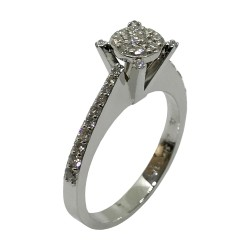 Gold Diamond Ring 0.48 CT. T.W. Model Number : 3070