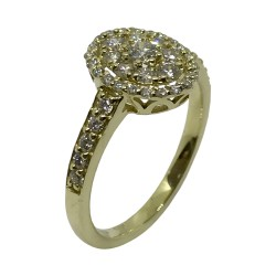 Gold Diamond Ring 0.61 CT. T.W. Model Number : 3072
