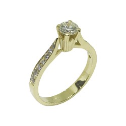 Gold Diamond Ring 0.68 CT. T.W. Model Number : 862