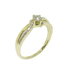 Gold Diamond Ring 0.3 CT. T.W. Model Number : 866