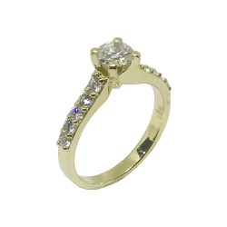 Gold Diamond Ring 0.94 CT. T.W. Model Number : 873