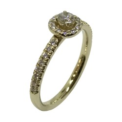 Gold Diamond Ring 0.4 CT. T.W. Model Number : 3141