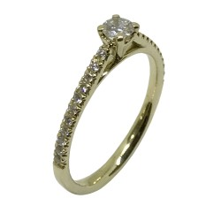Gold Diamond Ring 0.31 CT. T.W. Model Number : 3165