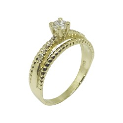 Gold Diamond Ring 0.26 CT. T.W. Model Number : 881