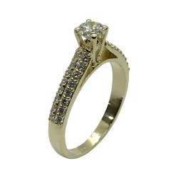 Gold Diamond Ring 0.72 CT. T.W. Model Number : 3366