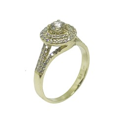 Gold Diamond Ring 0.77 CT. T.W. Model Number : 884