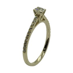 Gold Diamond Ring 0.46 CT. T.W. Model Number : 3369