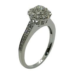 טבעת זהב משובצת 27 יהלומים במשקל 0.85 קרט דגם : 3372