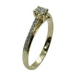 Gold Diamond Ring 0.34 CT. T.W. Model Number : 3432