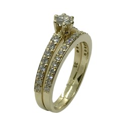 Gold Diamond Ring 0.81 CT. T.W. Model Number : 3540