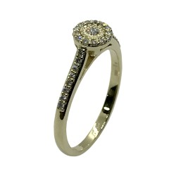 Gold Diamond Ring 0.22 CT. T.W. Model Number : 3714