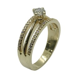 Gold Diamond Ring 0.49 CT. T.W. Model Number : 3769