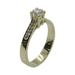Gold Diamond Ring 0.59 CT. T.W. Model Number : 3770