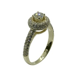 Gold Diamond Ring 1.15 CT. T.W. Model Number : 3771