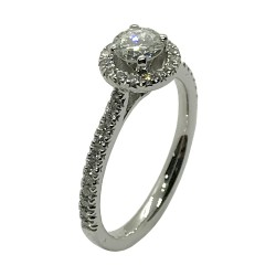 Gold Diamond Ring 0.73 CT. T.W. Model Number : 4001