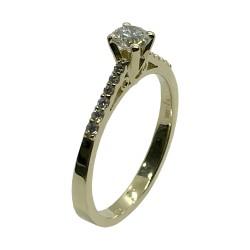 טבעת זהב משובצת 13 יהלומים במשקל 0.43 קרט דגם : 4002