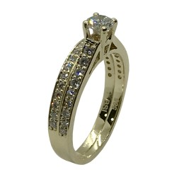 Gold Diamond Ring 0.85 CT. T.W. Model Number : 4004