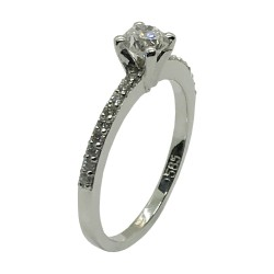Gold Diamond Ring 0.58 CT. T.W. Model Number : 4006