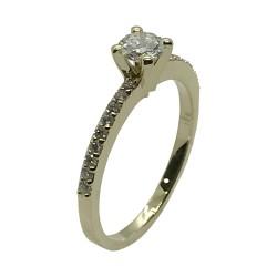 טבעת זהב משובצת 19 יהלומים במשקל 0.49 קרט דגם : 4007