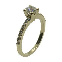 טבעת זהב משובצת 19 יהלומים במשקל 0.64 קרט דגם : 4008