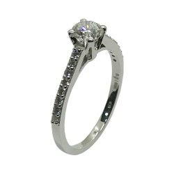 Gold Diamond Ring 0.69 CT. T.W. Model Number : 4009