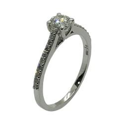 טבעת זהב משובצת 19 יהלומים במשקל 0.47 קרט דגם : 4010