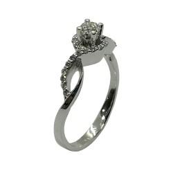 טבעת זהב משובצת 29 יהלומים במשקל 0.38 קרט דגם : 4038