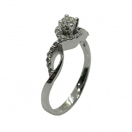 Gold Diamond Ring 0.38 CT. T.W. Model Number : 4038