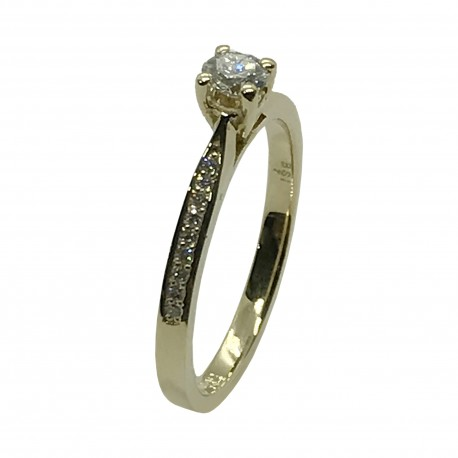 Gold Diamond Ring 0.3 CT. T.W. Model Number : 4048