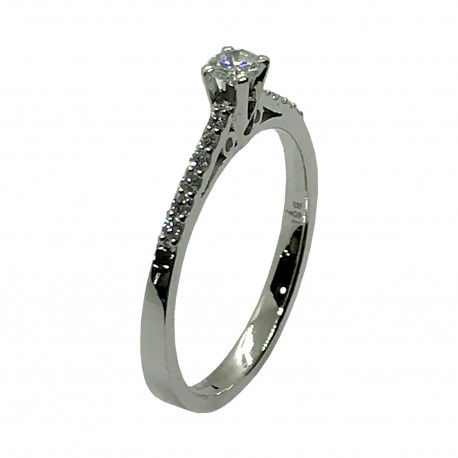 Gold Diamond Ring 0.27 CT. T.W. Model Number : 4050