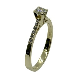 Gold Diamond Ring 0.42 CT. T.W. Model Number : 4051
