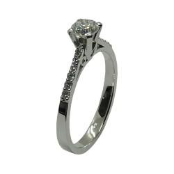 טבעת זהב משובצת 13 יהלומים במשקל 0.59 קרט דגם : 4052