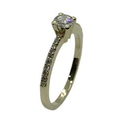 טבעת זהב משובצת 21 יהלומים במשקל 0.44 קרט דגם : 4053