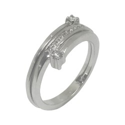 Gold Diamond Ring 0.14 CT. T.W. Model Number : 1263