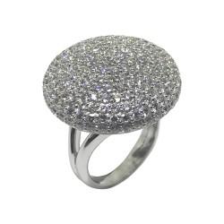 טבעת זהב משובצת 201 יהלומים במשקל 4.72 קרט דגם : 4451