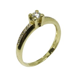 Gold Diamond Ring 0.22 CT. T.W. Model Number : 1360