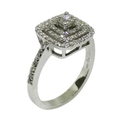 Gold Diamond Ring 0.7 CT. T.W. Model Number : 1365