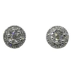 עגילים מזהב משובצים 48 יהלומים במשקל 0.72 קרט דגם : 1330