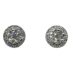 Gold Diamond EarRings 0.72 CT. T.W. Model Number : 1330