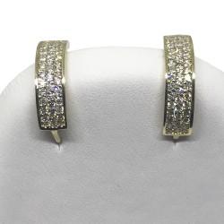 עגילים מזהב משובצים 74 יהלומים במשקל 0.45 קרט דגם : 1338