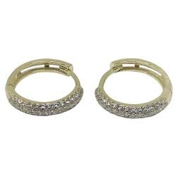 עגילים מזהב משובצים 84 יהלומים במשקל 0.65 קרט דגם : 1340