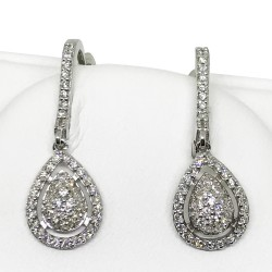 Gold Diamond EarRings 0.78 CT. T.W. Model Number : 1361