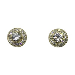 Gold Diamond EarRings 0.68 CT. T.W. Model Number : 1369