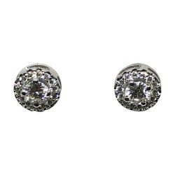 עגילים מזהב משובצים 30 יהלומים במשקל 0.78 קרט דגם : 1370