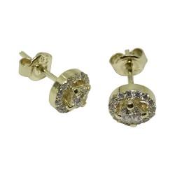 עגילים מזהב משובצים 32 יהלומים במשקל 0.63 קרט דגם : 1372