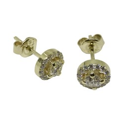 Gold Diamond EarRings 0.63 CT. T.W. Model Number : 1372