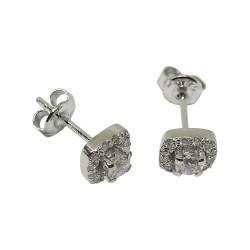 עגילים מזהב משובצים 26 יהלומים במשקל 0.47 קרט דגם : 1373